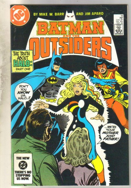 Batman and the Outsiders #16 comic book mint 9.8