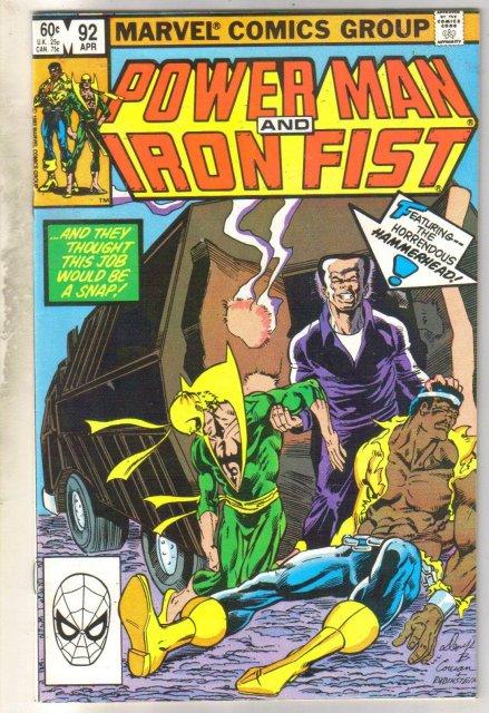 Power Man and Iron Fist #92 comic book near mint 9.4