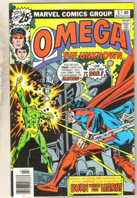 Omega the Unknown #3 comic book near mint 9.4
