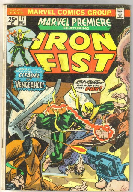 Marvel Premiere Iron Fist #17 comic book good/very good 3.0