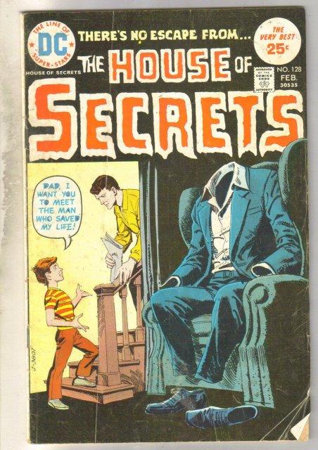 House of Secrets #128 comic book very good 4.0
