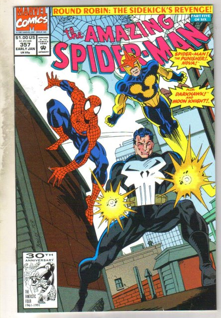 Amazing Spider-man #357 comic book very fine 8.0
