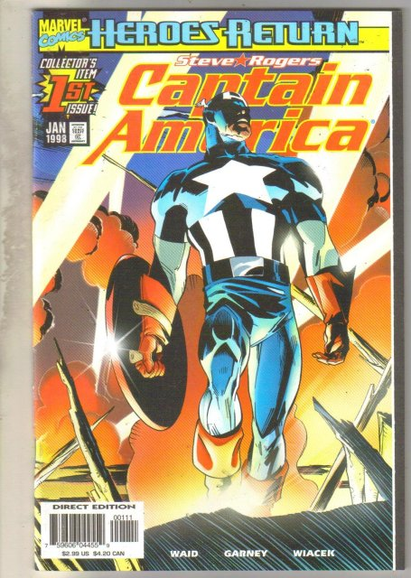 Captain America volume 3 #1 comic book mint 9.8