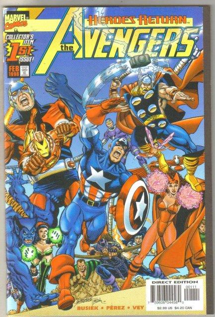 Avengers volume 3 #1 comic book mint 9.8