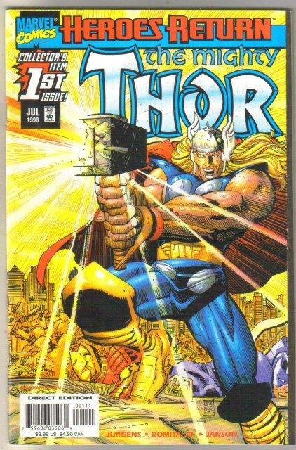 Thor volume 2 #1 comic book mint 9.8
