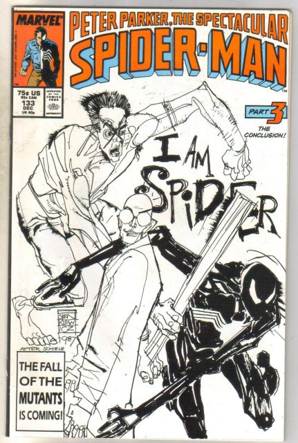 Peter Parker, The Spectacular Spider-man #133 comic book near mint 9.4