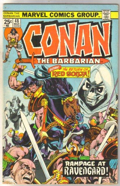 Conan the Barbarian #48 comic book very good/fine 5.0