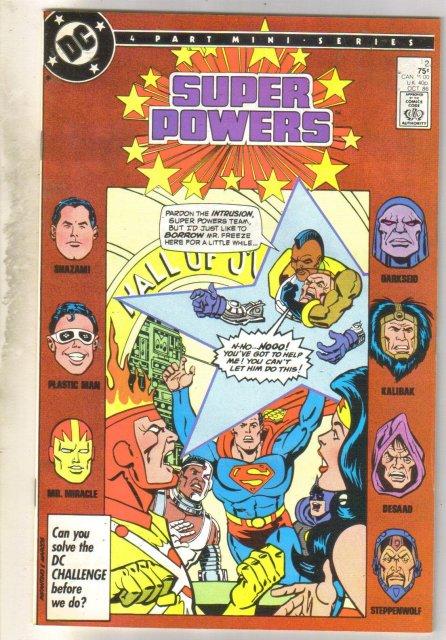 Super Powers #2 comic book very fine 8.0