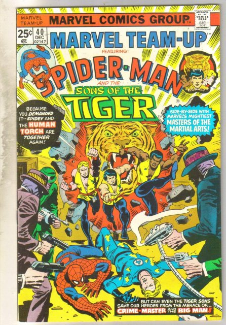 Marvel Team-Up #40 (Sons of the Tiger) comic book near mint 9.4