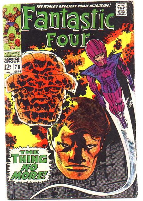 good grade Fantastic Four comic  #78