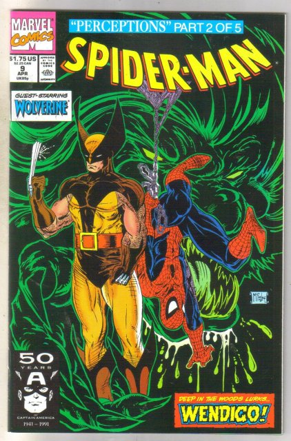 Spider-man #9 comic book near mint 9.4