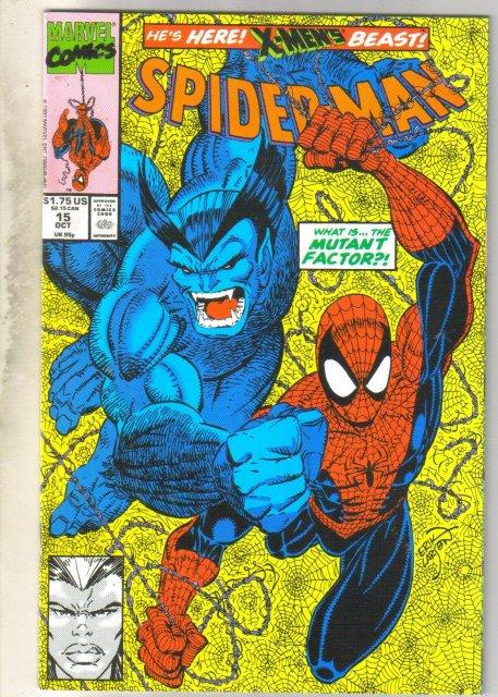 Spider-man #15 comic book near mint 9.4