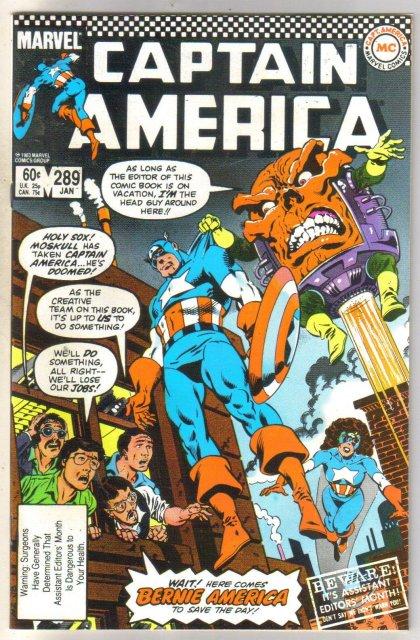 Captain America #289 comic book near mint 9.4