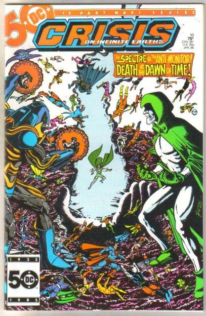 Crisis on Infinite Earths #10 comic book mint 9.8