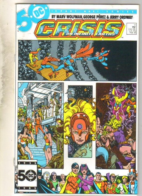 Crisis on Infinite Earths #11 comic book mint 9.8