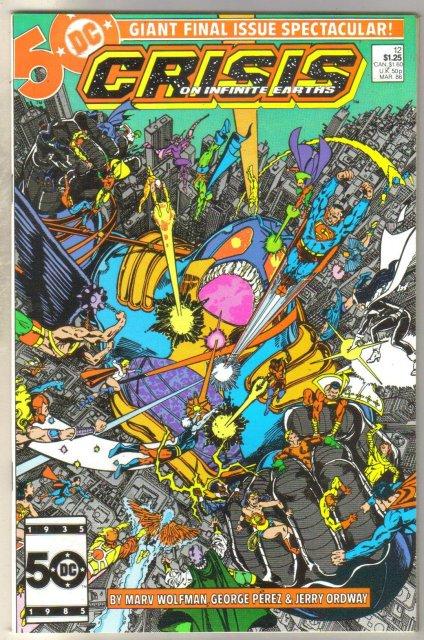 Crisis on Infinite Earths #12 comic book near mint 9.4