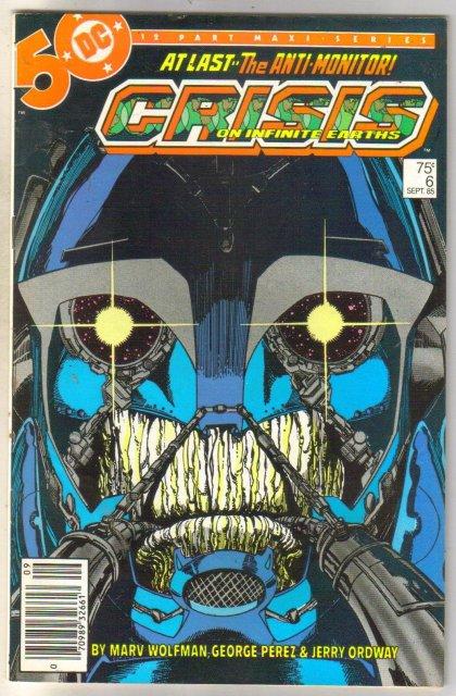Crisis on Infinite Earths #6 comic book very fine 8.0