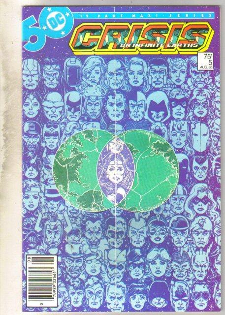 Crisis on Infinite Earths #5 comic book near mint 9.4