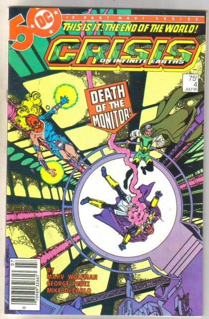 Crisis on Infinite Earths #4 comic book near mint 9.4