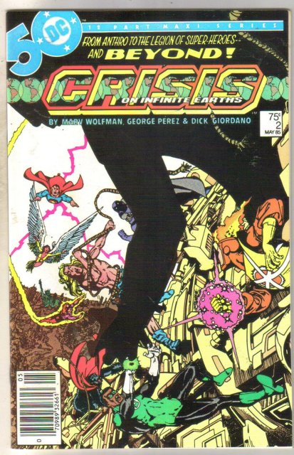 Crisis on Infinite Earths #2 comic book mint 9.8
