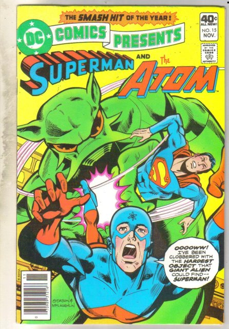 DC Comics Presents #15 (Superman and The Atom) comic book near mint 9.4