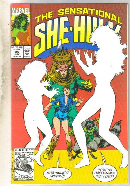 Sensational She-Hulk #45 comic book very fine/near mint 9.0