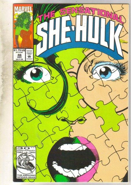 Sensational She-Hulk #46 comic book very fine/near mint 9.0