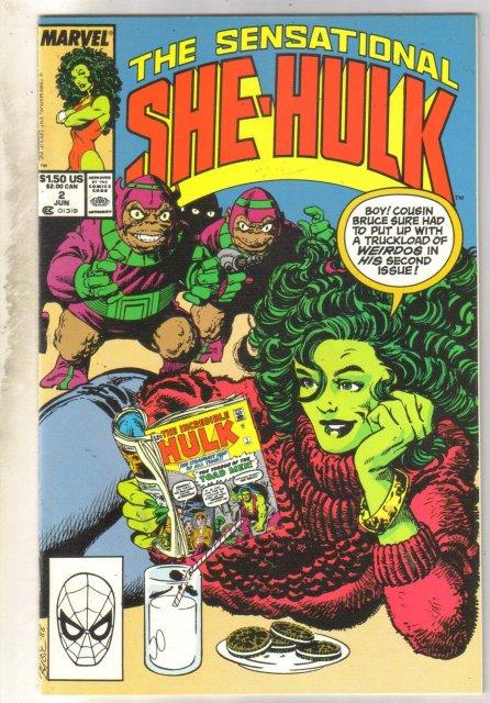 Sensational She-Hulk #2 comic book near mint 9.4