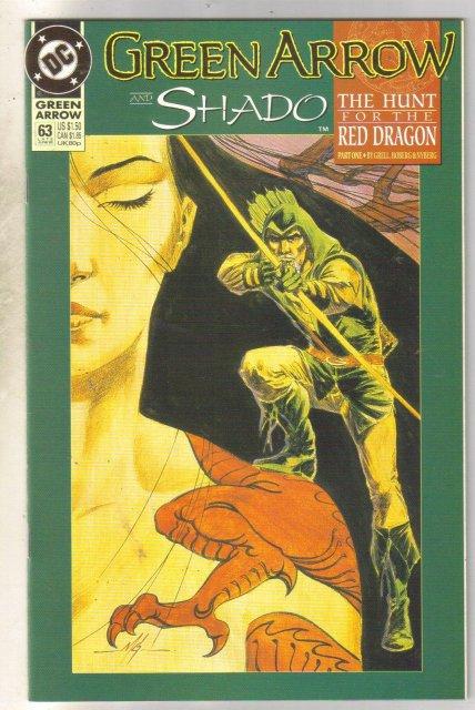 Green Arrow #63 comic book near mint 9.4