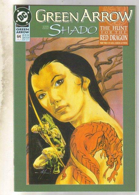 Green Arrow #64 comic book near mint 9.4