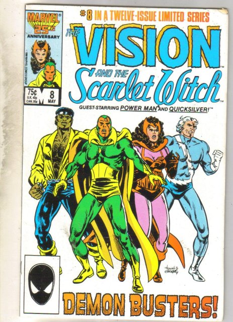 Vision and the Scarlet Witch #8 comic book very good 4.0