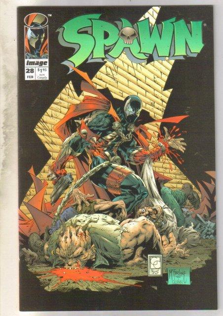 Spawn #28 comic book near mint 9.4