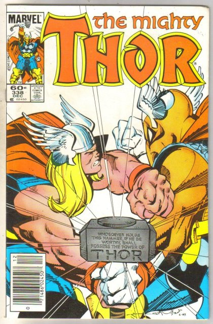 Mighty Thor #338 comic book near mint 9.4