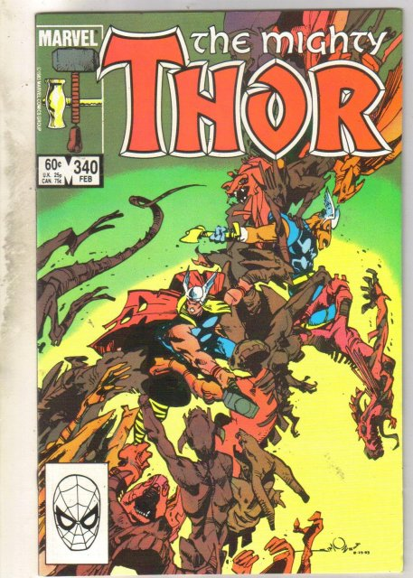 Mighty Thor #340 comic book very fine 8.0