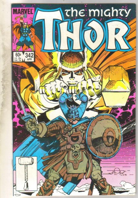 Mighty Thor #342 comic book near mint 9.4