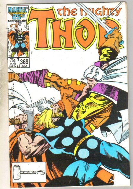 Mighty Thor #369 comic book mint 9.8