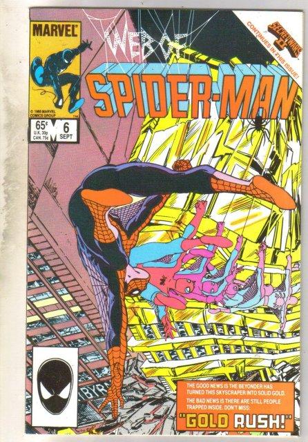 Web of Spider-man #6 comic book near mint 9.4