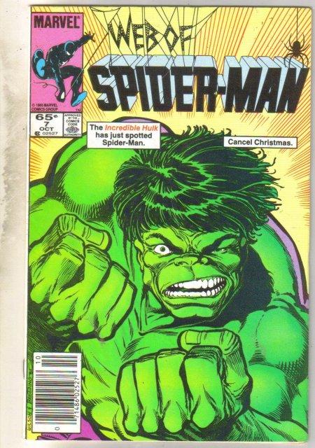 Web of Spider-man #7 comic book fine 6.0