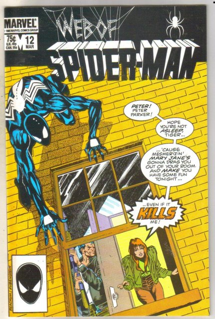 Web of Spider-man #12 comic book near mint 9.4