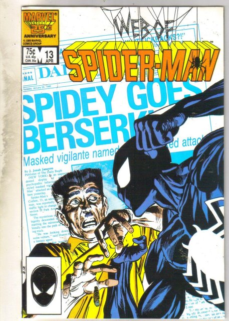 Web of Spider-man #13 comic book near mint 9.4