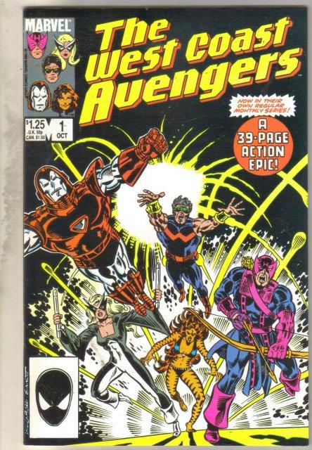 West Coast Avengers volume 2 #1 comic book near mint 9.4