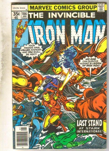 Iron Man #106 comic book fine 6.0