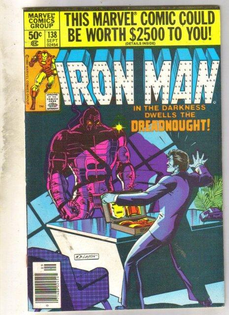 Iron Man #138 comic book very fine 8.0