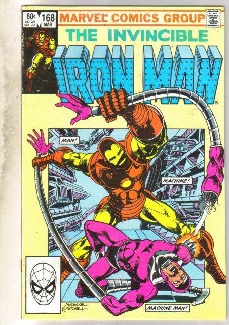 Iron Man #168 comic book near mint 9.4