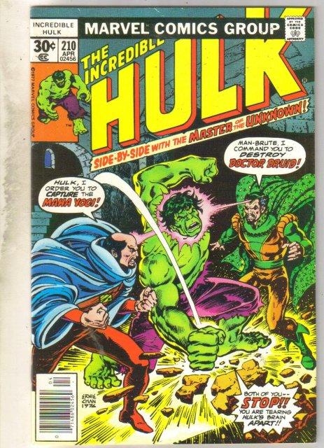 Incredible Hulk #210 comic book very fine 8.0