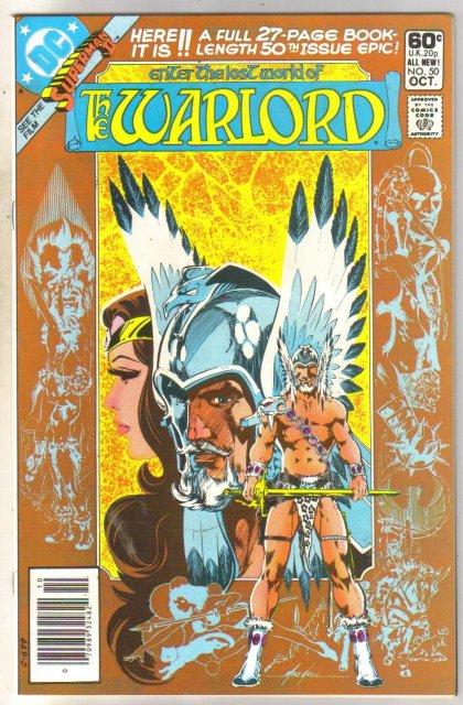 Warlord #50 comic book near mint 9.4