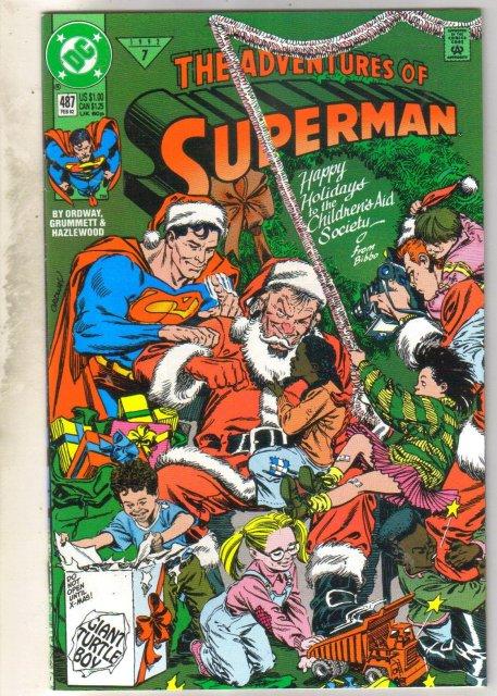 Adventures of Superman #487 comic book near mint 9.4