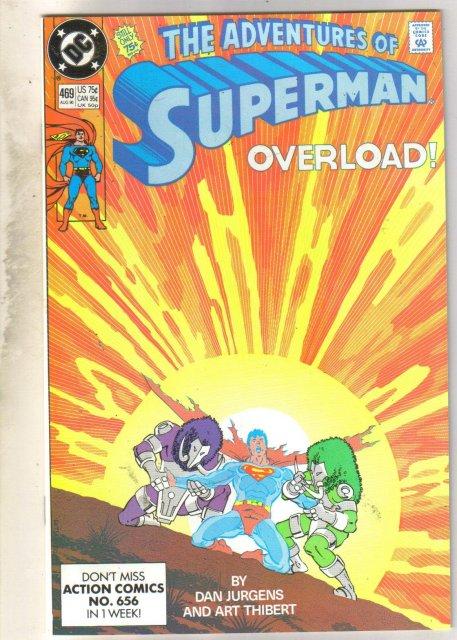 Adventures of Superman #469 comic book near mint 9.4