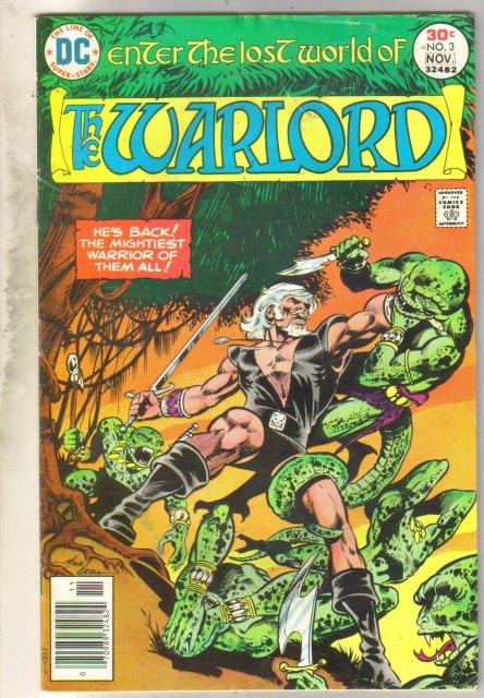 Warlord #3 comic book very good 4.0