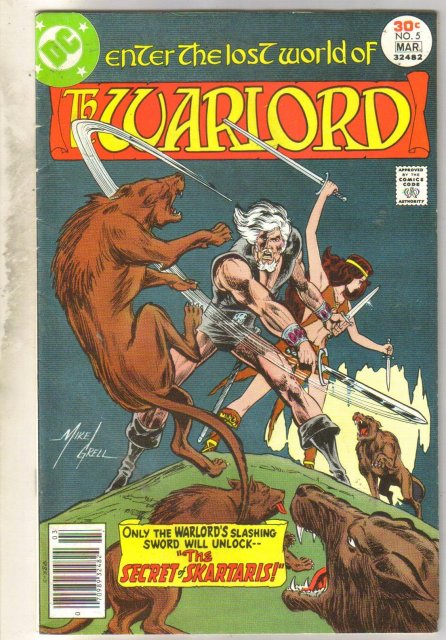 Warlord #5 comic book very good/fine 5.0